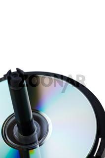 CDs auf einer Spindel