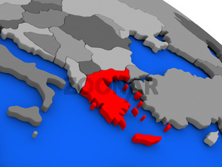 Greece in red
