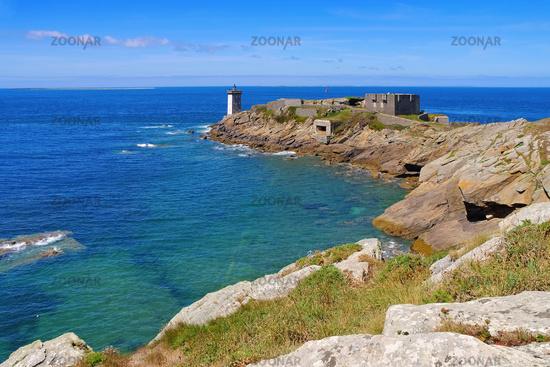 Kermorvan Leuchtturm in der Bretagne - Kermorvan lighthouse in Brittany, France