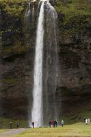 Iceland, waterfall Seljalandfoss
