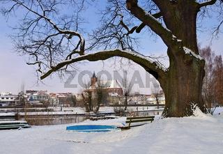 Beeskow Marienkirche im Winter - church Marienkirche von Beeskow in Brandenburg