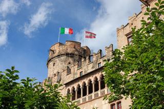 Beautiful Castello del Buonconsiglio in Trento, Italy