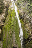 Waterfall in the gorge of Richtis at winter, Crete, Greece.
