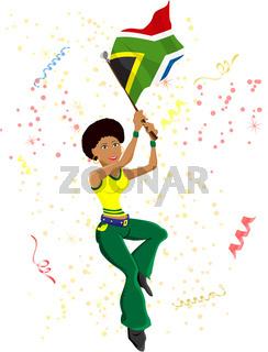 Soccer Fan Girl Brazil