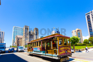 San Francisco Cable Car Grace Cathedral H