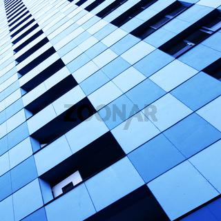 Wall of skyscraper