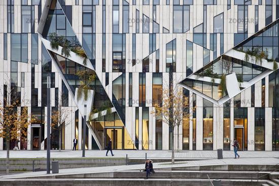 Koe-Bogen, modern office and store building, Duesseldorf, North Rhine-Westphalia, Germany, Europe