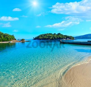 Ksamil sunny beach, Albania.
