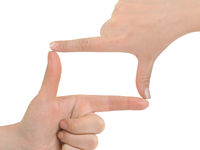 Frame made of hands