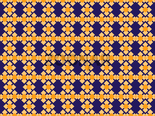 Geometric shapes of different shapes on a seamless colored pattern