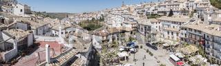 Panoramic view of Cazorla village, in the Sierra de Cazorla, Jaen, Spain