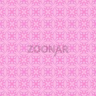 Pink Ornamental Seamless Line Pattern