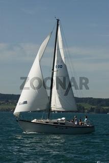 Seegelboot am Attersee