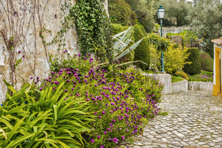A Pleasant Footpath In The Town Of Obidos Portugal
