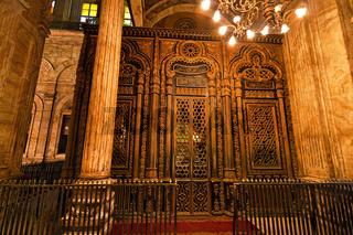 Ägypten, Kairo. Mohammed Ali Moschee. Innen.
