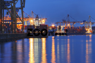 Tollerort Container Terminal im Hamburger Hafen, Deutschland, tollerort Container Terminal at Hamburg Harbour, Germany