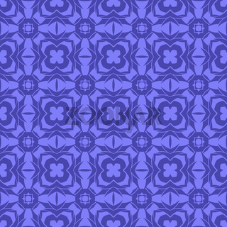Blue Ornamental Seamless Line Pattern