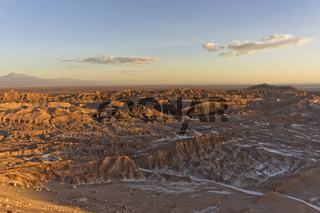 Chile, Atacama Desert, Sunset