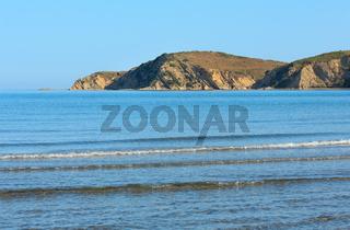 Morning sea coast Albania).