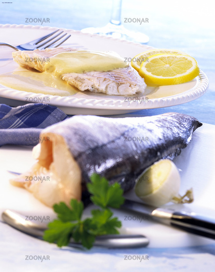 Cod with mustard sauce