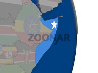 Somalia with its flag