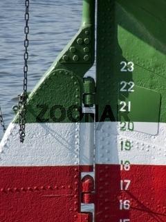 Ruderanlage des Großseglers Rickmer Rickmers im Hamburger Hafen