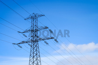 Electric pole lines