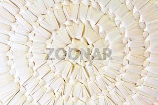 Handmade woven round box background
