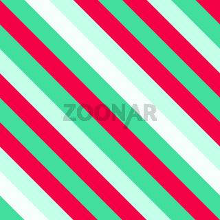 Christmas Diagonal Striped Seamless Pattern