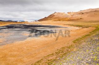 Hverir geothermal zone iceland