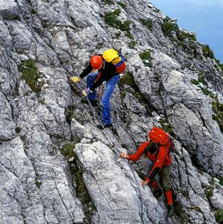 Hindelanger Klettersteig, Allgäu, Bayern, Deutschland / Allgäu, Bavaria, Germany
