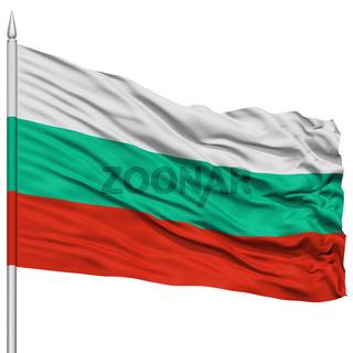 Bulgaria Flag on Flagpole