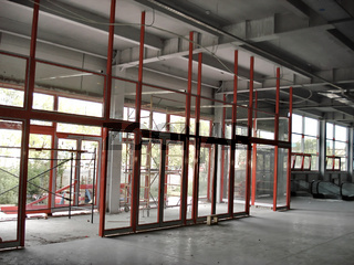 Construction Site of an Industrial Building inside