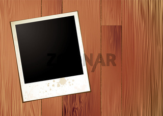 wood panel polaroid