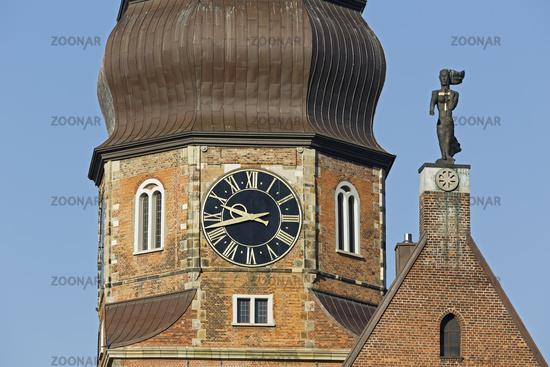 St.-Katharinen-Kirche church, Speicherstadt district, Hamburg, Germany, Europe