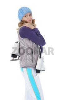 Girl with skates