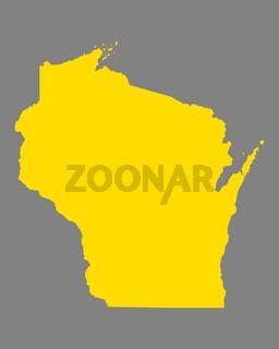 Karte von Wisconsin - Map of Wisconsin