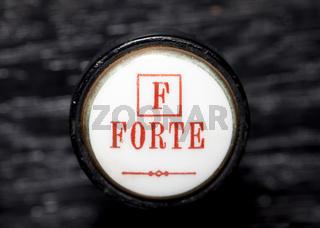 Forte, detail of a harmonium