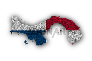 Karte und Fahne von Panama auf Mohn - Map and flag of Panama on poppy seeds