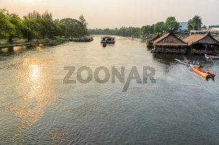 Kwai Yai River at sunset