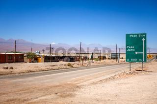 Road in San Pedro de Atacama, Chile