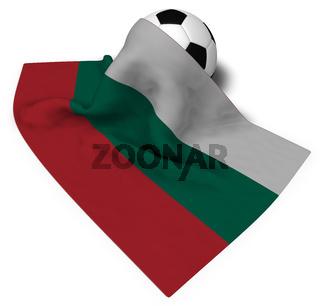 fußball und bulgarische flagge - 3d illustration