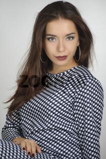 Portrait of a beautiful brunette girl.