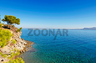 Skliri beach in Agistri, Greece