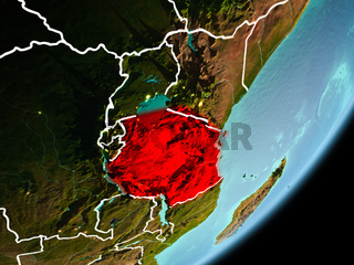 Orbit view of Tanzania
