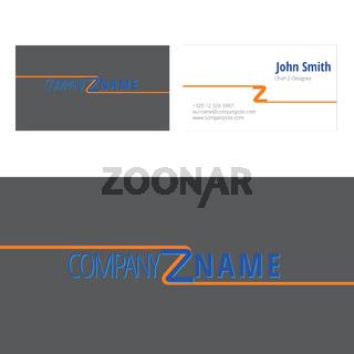Z company logo corporate business card