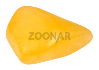 polished yellow Aventurine gem stone isolated