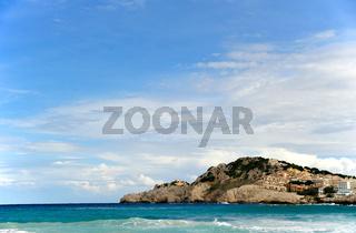 Blick nach Cala Radjada auf Mallorca