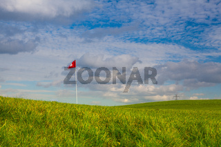 The detail of golf course and autumn landscape