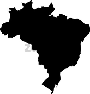 Brazil map on a white background